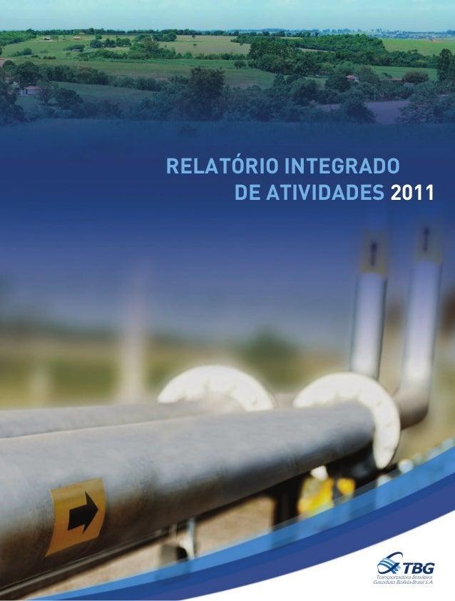Relatório Integrado DE ATIVIDADES 2011