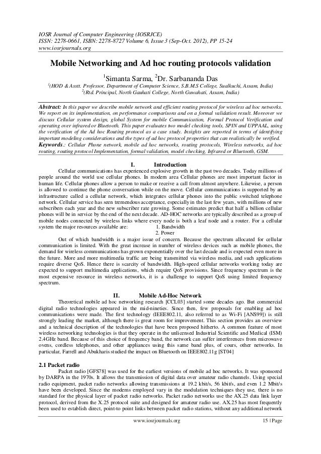 IOSR Journal of Computer Engineering (IOSRJCE) ISSN: 2278-0661, ISBN: 2278-8727 Volume 6, Issue 3 (Sep-Oct. 2012), PP 15-2...