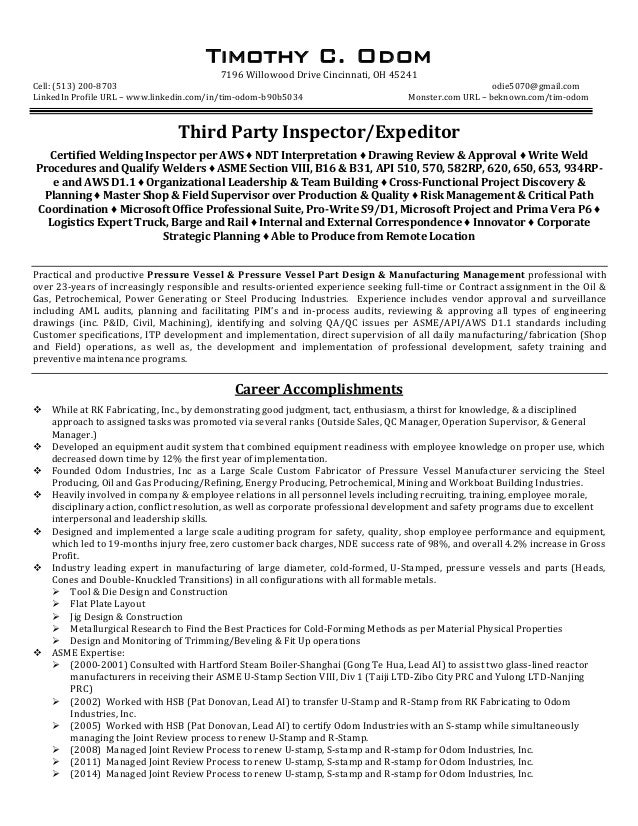 food expeditor resume