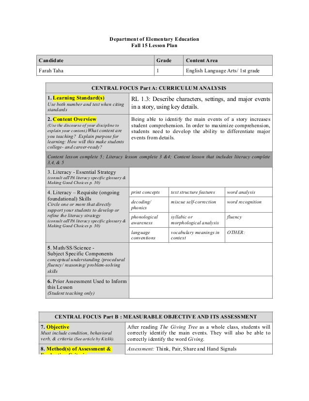 Differentiated Language Arts Lesson Plans Eczalinf