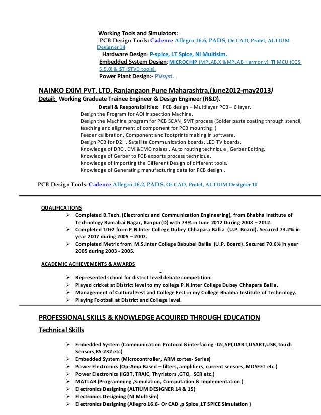 41 unique gallery of pcb design engineer resume format