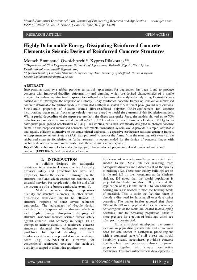 Momoh Emmanuel Owoichoechi. Int. Journal of Engineering Research and Application www.ijera.com ISSN : 2248-9622, Vol. 7, I...