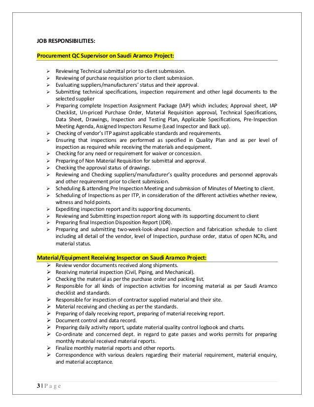 muhammad asif procurement quality supervisor cv 2