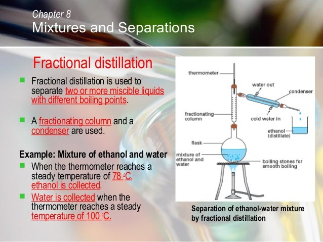 What are examples of immiscible liquids?