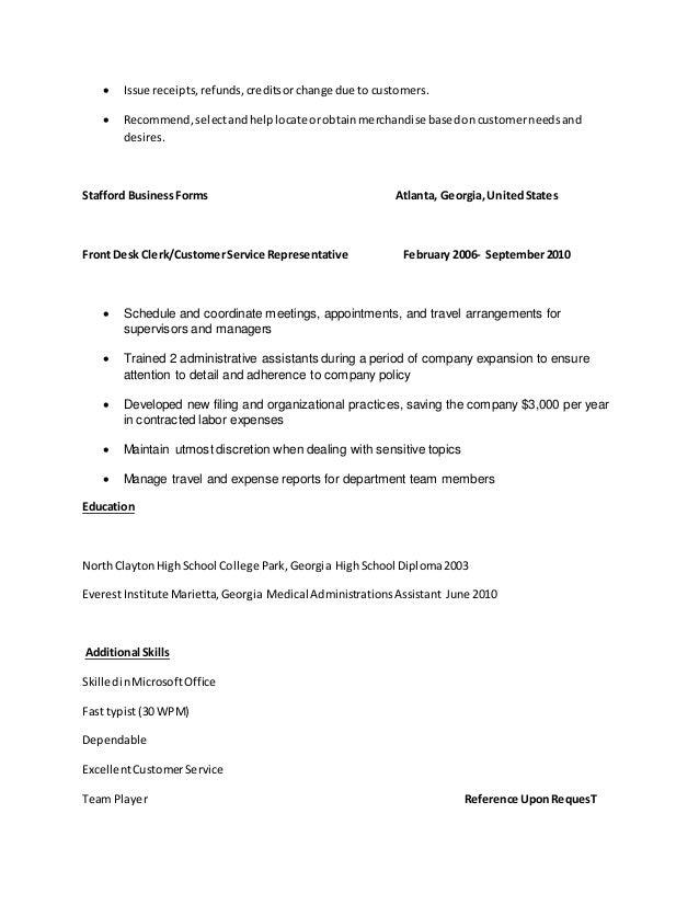 2 - Typist Resume