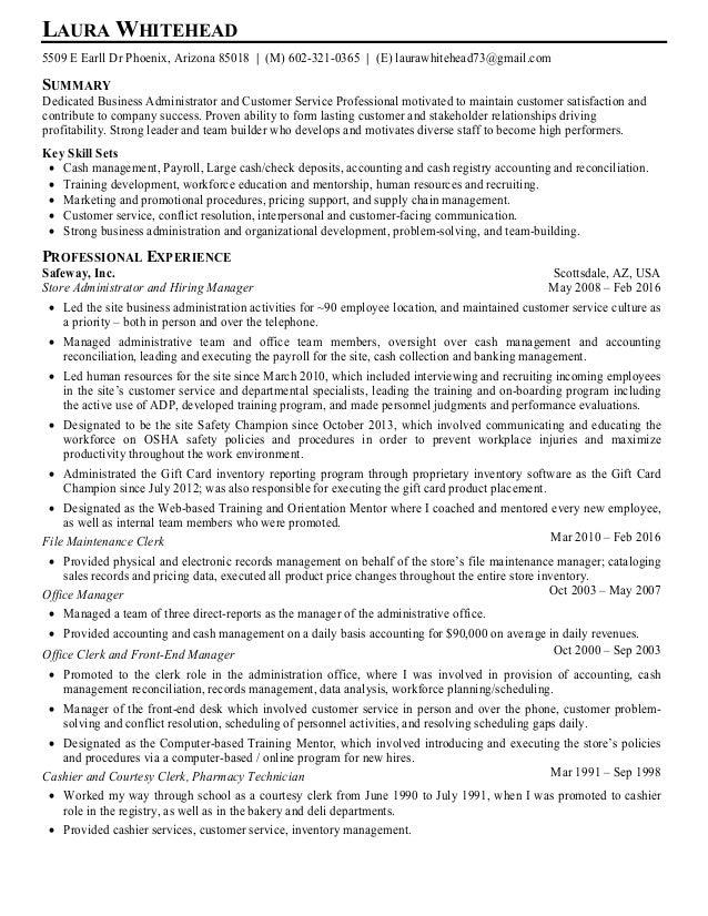 LAURA WHITEHEAD 5509 E Earll Dr Phoenix, Arizona 85018   (M) 602-321-0365   (E) laurawhitehead73@gmail.com SUMMARY Dedicat...