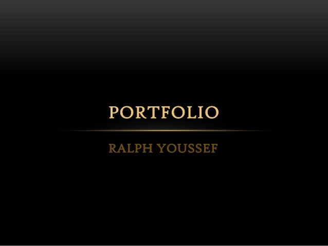 RALPH YOUSSEF PORTFOLIO