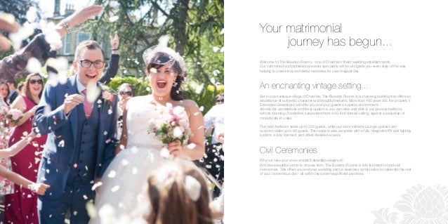 Your matrimonial journey has begun... Welcome to The Bowdon Rooms - one of Cheshire's finest wedding establishments. Our c...