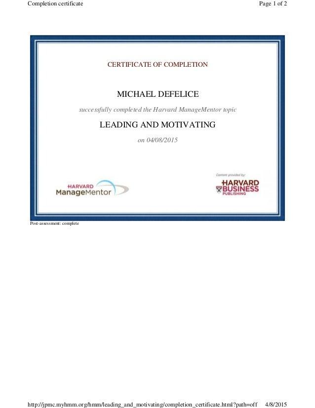 Harvard University Business Mentor Program Leading And Motivating