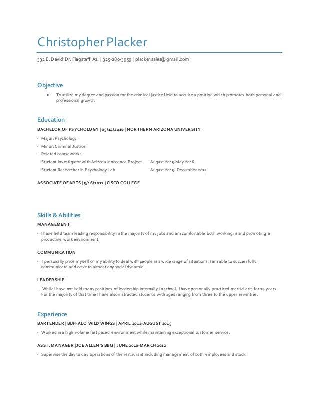 christopher placker criminal justice resume prev