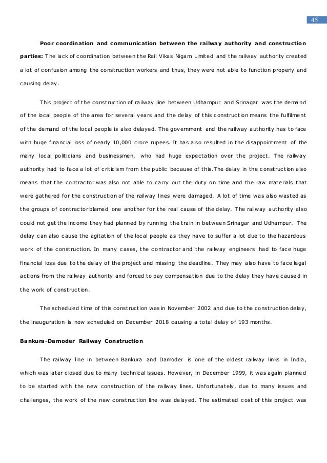 Delay in construction dissertation gm foods essay