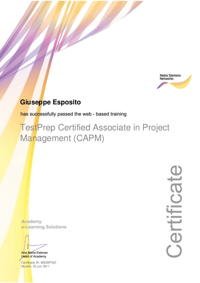 Test Prep Certified Associate In Project Management Capm