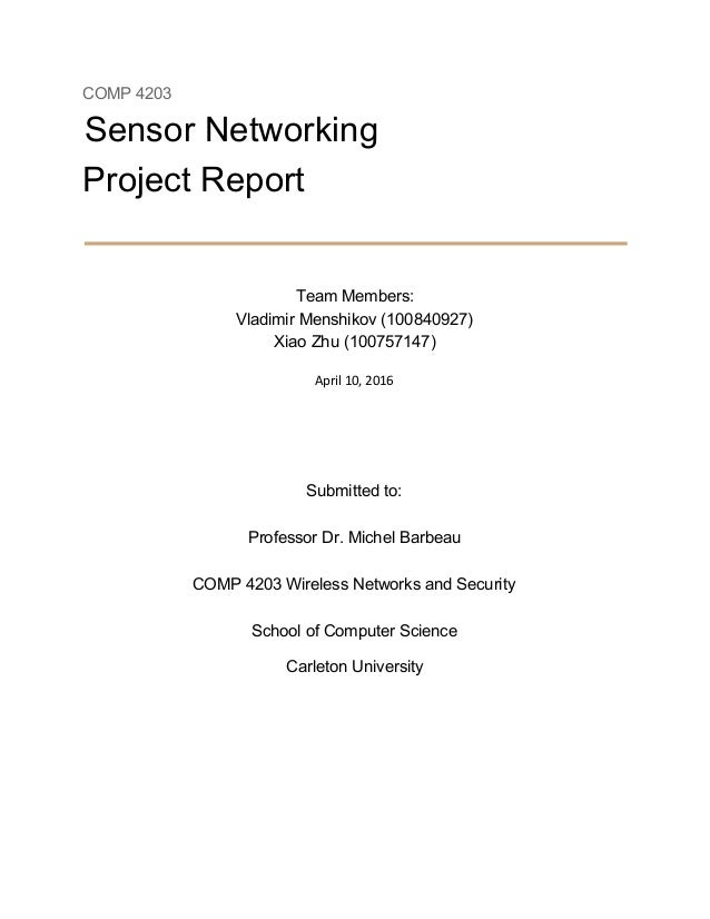 Sensor Networking
