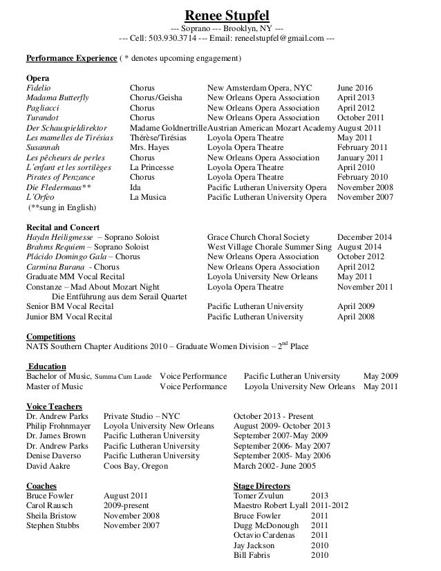 Resume Music Resume Format For Music Teacher In Indiateachers Cover Letter Stage  Manager Resume Stage Linkedin  Stage Manager Resume Template