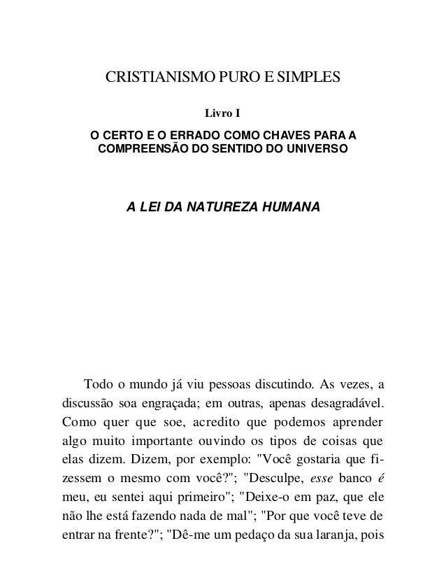 C S Lewis Cristianismo Puro E Simples