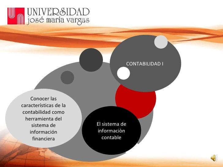 Conocer las características de la contabilidad como herramienta del sistema de información financiera CONTABILIDAD I  Sub ...