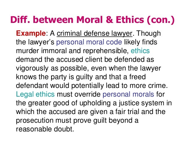 Difference Between Morals and Ethics