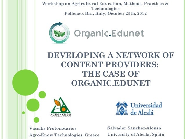 Workshop on Agricultural Education, Methods, Practices &                           Technologies              Pollenzo, Bra...