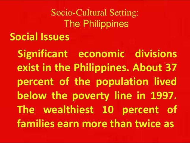 Philippines Socio Cultural Setting