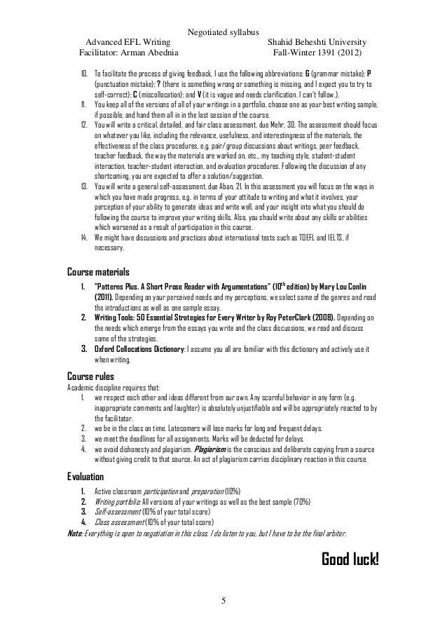 Efl essay