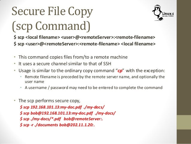 linux scp resume copy