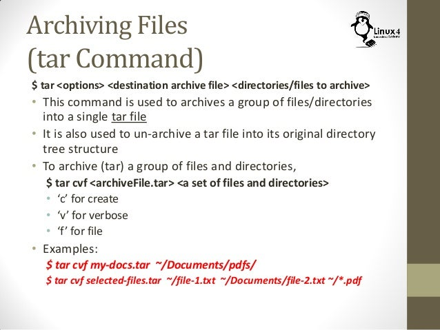 Course 102: Lecture 24: Archiving and Compression of Files