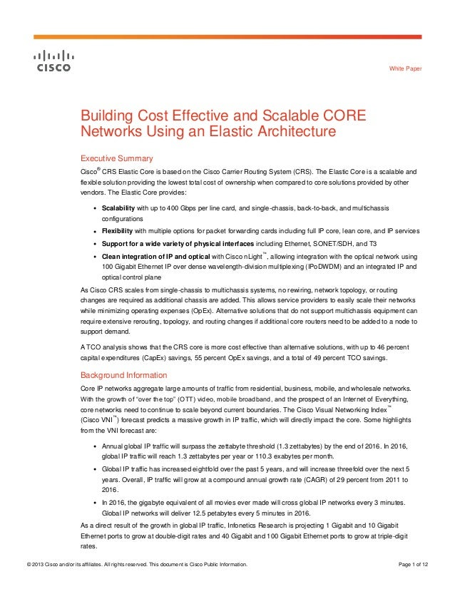 Building Cost Effective And Scalable Core Networks