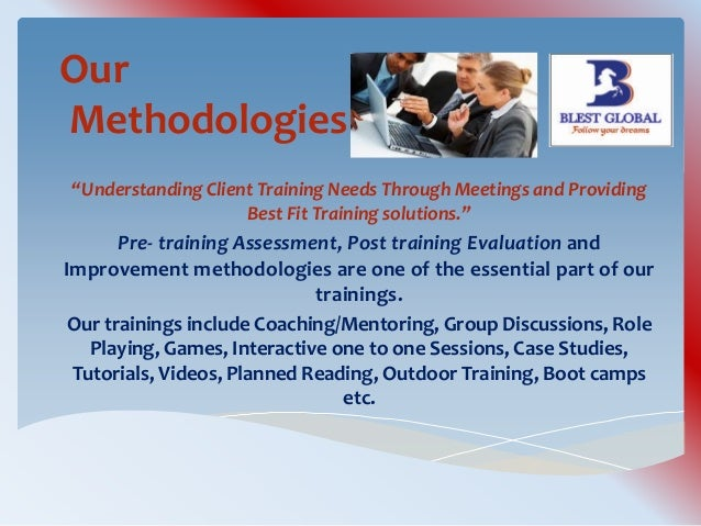 Pre sales training and methodologies