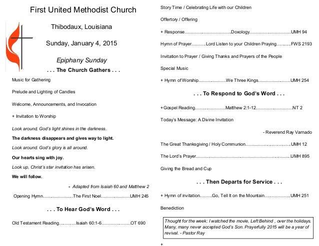 church service bulletin