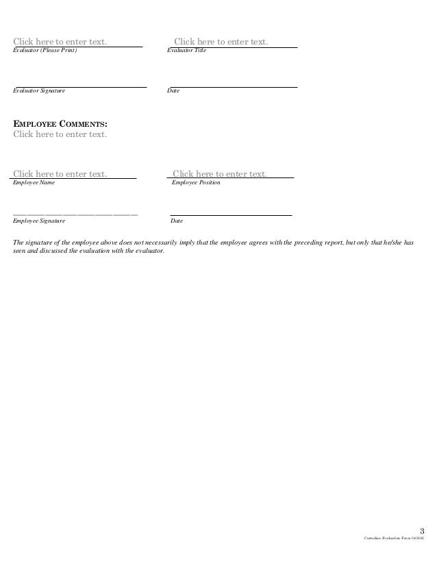 Custodial Evaluation Template 022015