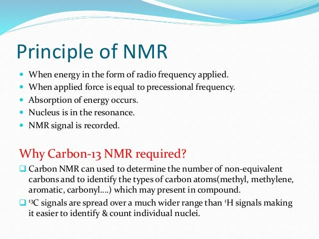 C 13 Nmr Spectroscopy Ppt 10 Minute Explanation
