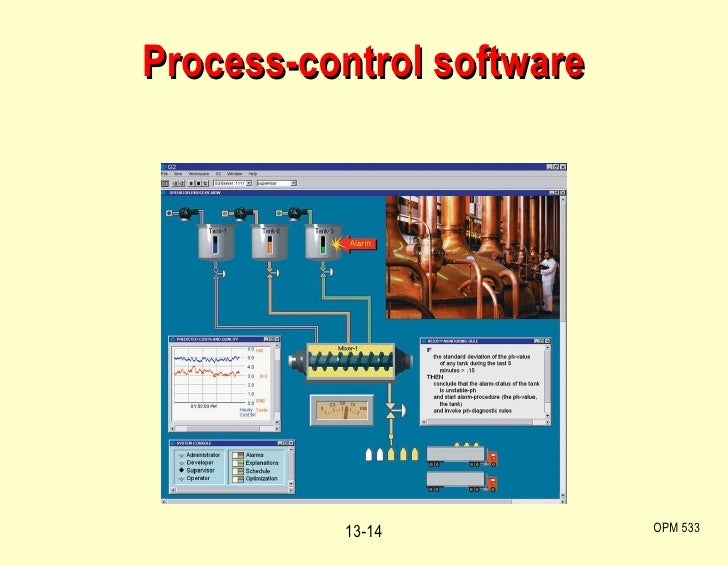 Process-control software OPM 533 13-