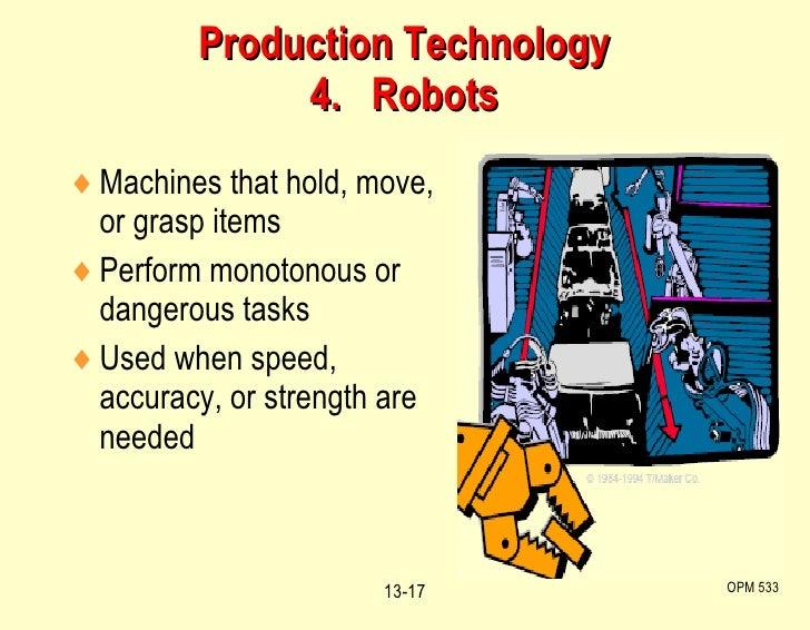 <ul><li>Machines that hold, move, or grasp items </li></ul><ul><li>Perform monotonous or dangerous tasks </li></ul><ul><li...