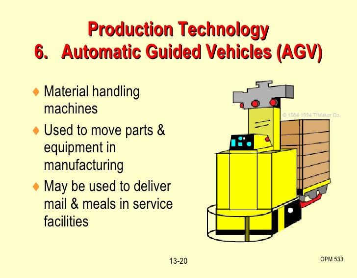 <ul><li>Material handling machines </li></ul><ul><li>Used to move parts & equipment in manufacturing </li></ul><ul><li>May...