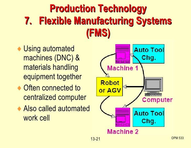 <ul><li>Using automated machines (DNC) & materials handling equipment together </li></ul><ul><li>Often connected to centra...