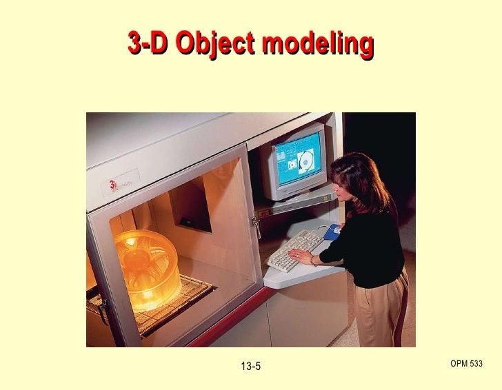 3-D Object modeling OPM 533 13-