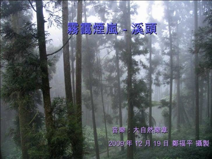霧靄煙嵐-溪頭   2009 年 12 月 19 日 鄭福平 攝製 音樂:大自然樂章