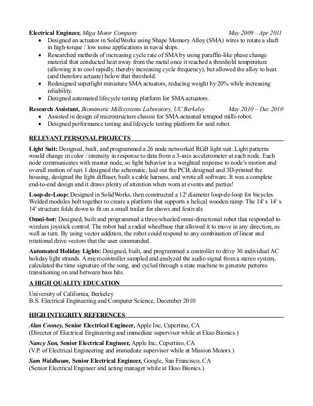 Outstanding Robot Engineering Resume Component - Administrative ...