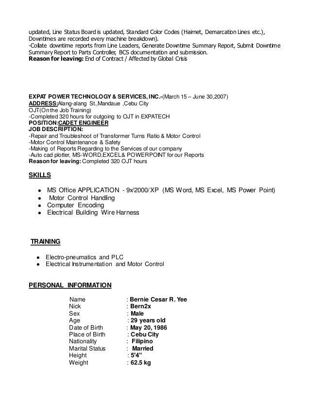 bernie final cv update 4 638?cb=1451822184 bernie final cv update wire harness job description at highcare.asia