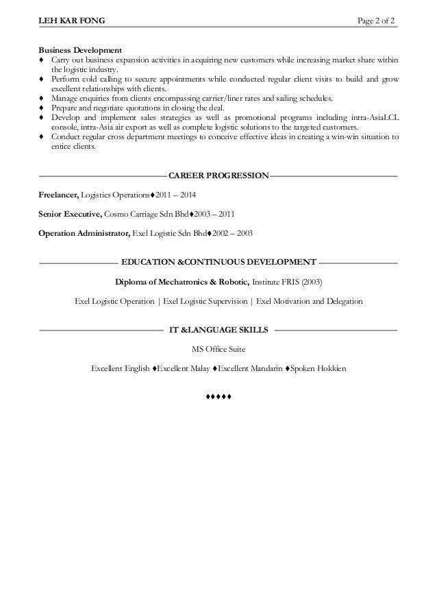 resume kar fong2014