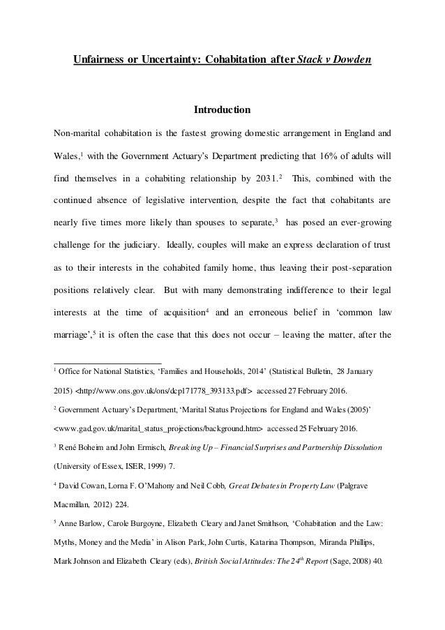 stack v dowden essay question