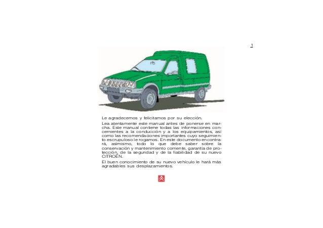 manual de uso de la furgoneta citroen c15 rh slideshare net Citroen C2 Citroen C9