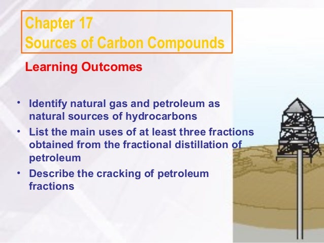 Chapter 17 Sources of Carbon Compounds Learning Outcomes• Identify natural gas and petroleum as  natural sources of hydroc...