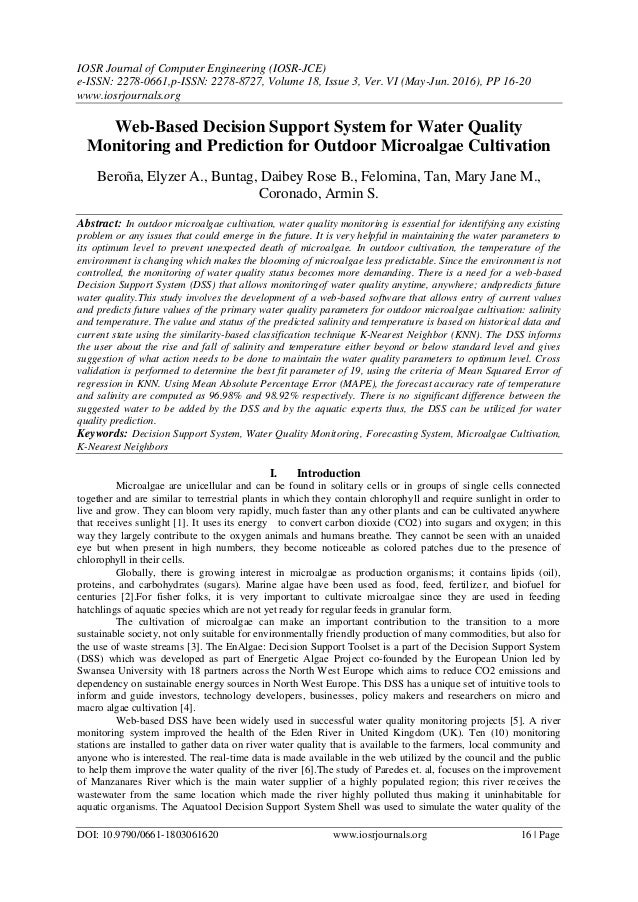 IOSR Journal of Computer Engineering (IOSR-JCE) e-ISSN: 2278-0661,p-ISSN: 2278-8727, Volume 18, Issue 3, Ver. VI (May-Jun....