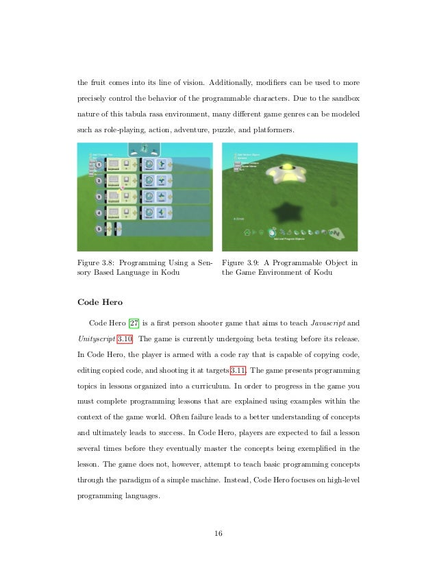 Thesis educational games