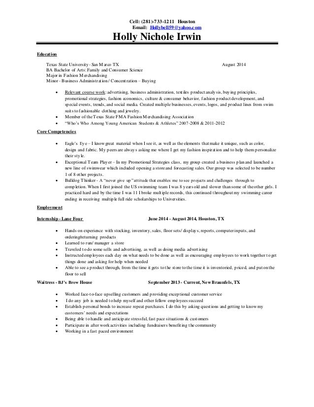 Holly Irwin - Resume
