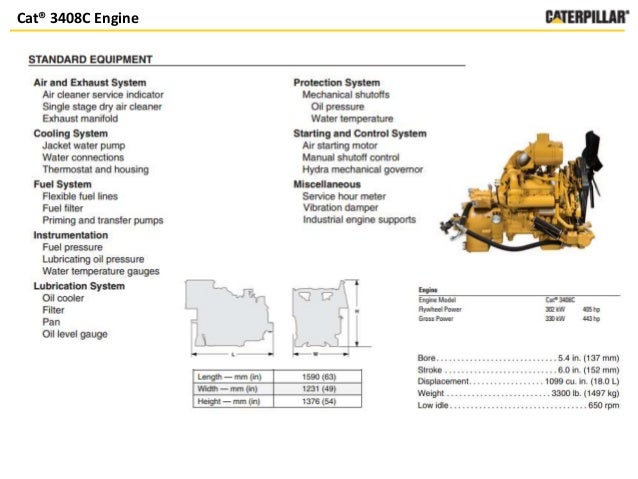 c18 vs 3408 caterpillar engines rh slideshare net Caterpillar C18 Truck Engine Cat C18 Engine Wjh