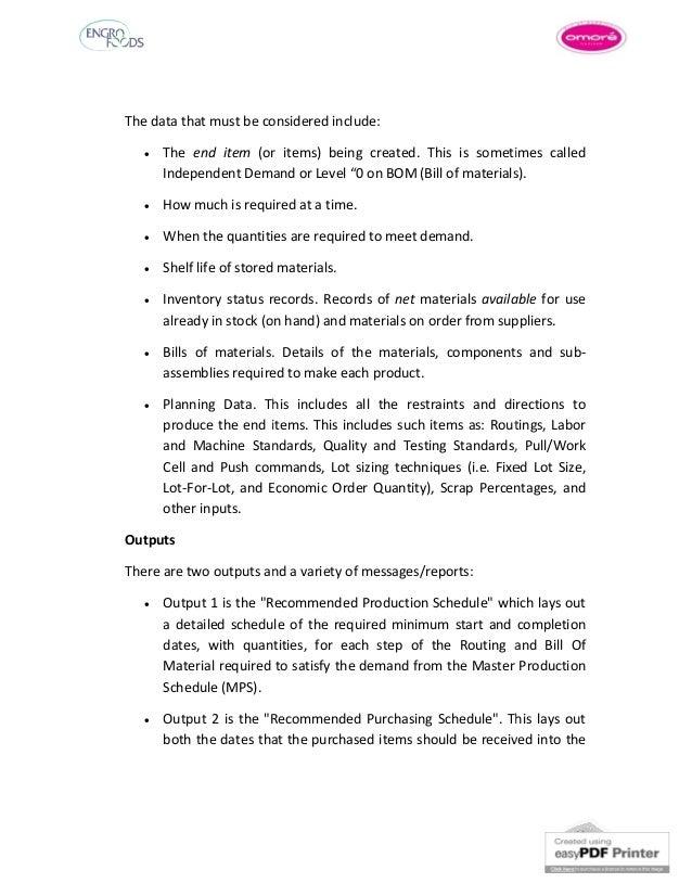 Internship report on supply chain - Homework Sample