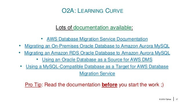 An AWS DMS Replication Journey from Oracle to Aurora MySQL