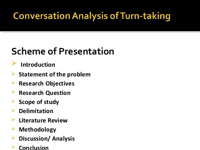 Conversation Analysis presentation